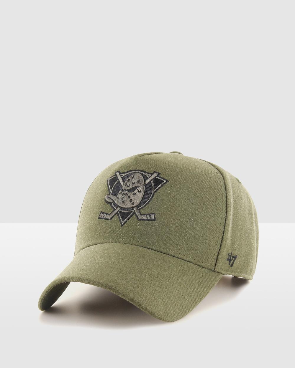 47 Anaheim Ducks Replica '47 MVP DT Snapback Hats Sandalwood