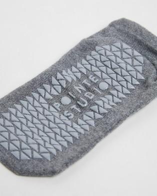 Pointe Studio Union Grip Socks - Socks & Tights (Charcoal)