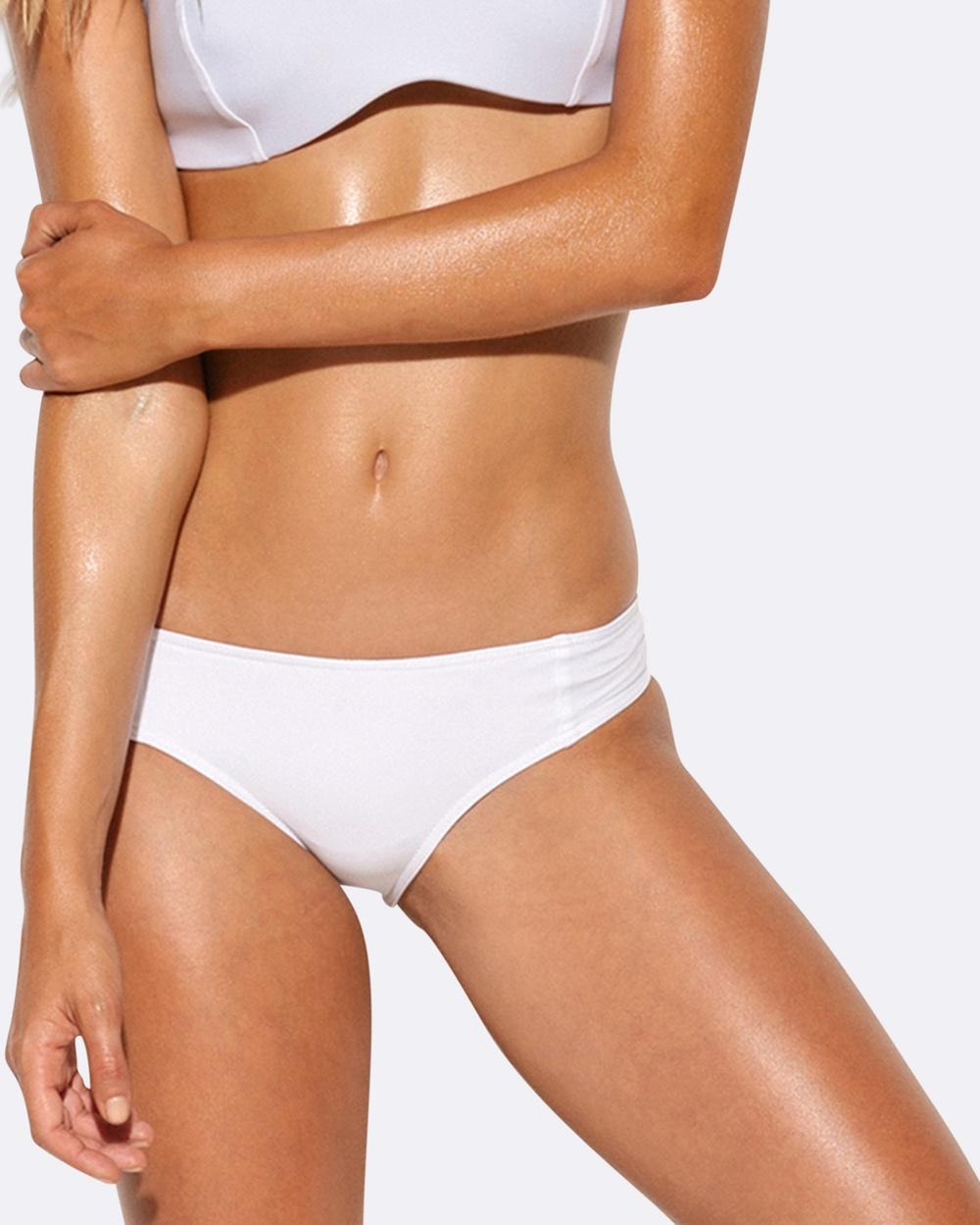 Allerton Cheeky Boyleg Bikini Bottoms White Cheeky Boyleg