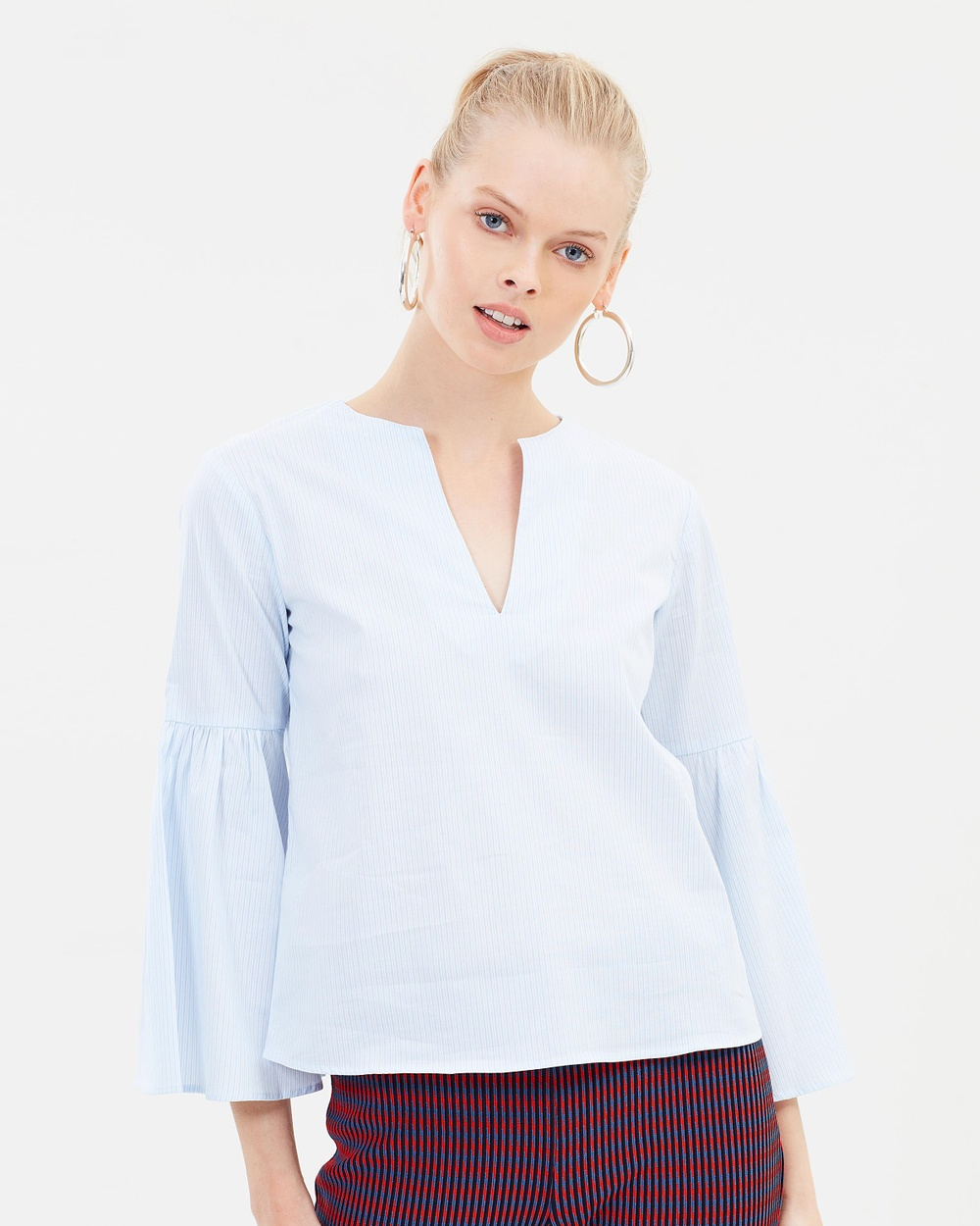 MAX & Co. Decimale Blouse Tops Light Blue Pattern Decimale Blouse