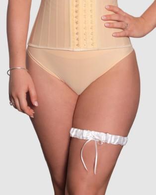 B Free Intimate Apparel Bridal Garter Classic - Lingerie Accessories (Snow)