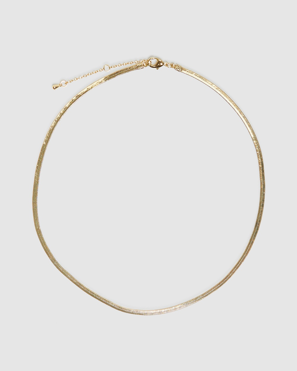 Alice In The Eve 14k Gold Plated Snake Chain Necklace Jewellery GOLD