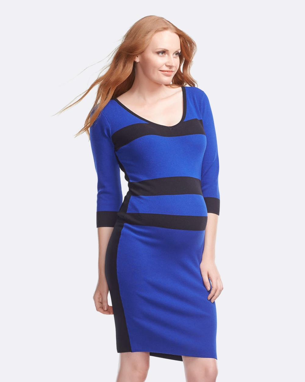Soon Maternity Belle Zip Maternity Dress Bodycon Dresses Blue Belle Zip Maternity Dress