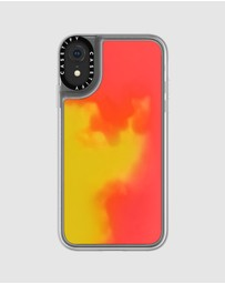 Casetify - CASETiFY Neon Sand Liquid Case for iPhone XR - Flame (Yellow / Orange)