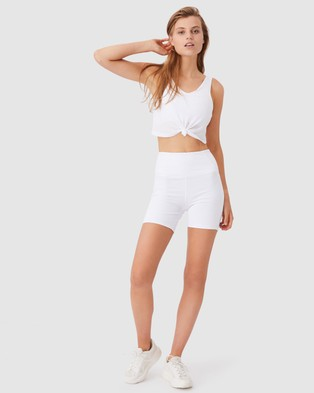 Cotton On Body Active Double Trouble Tank - Crop Tops (White)