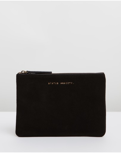 Status Anxiety - Momentary Suede Clutch