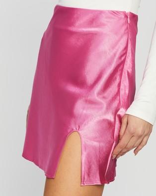 Dazie Love Lust Mini Skirt - Skirts (Pink)