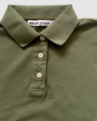 Gelati Jeans Kids Leni Khaki Polo Top Casual shirts