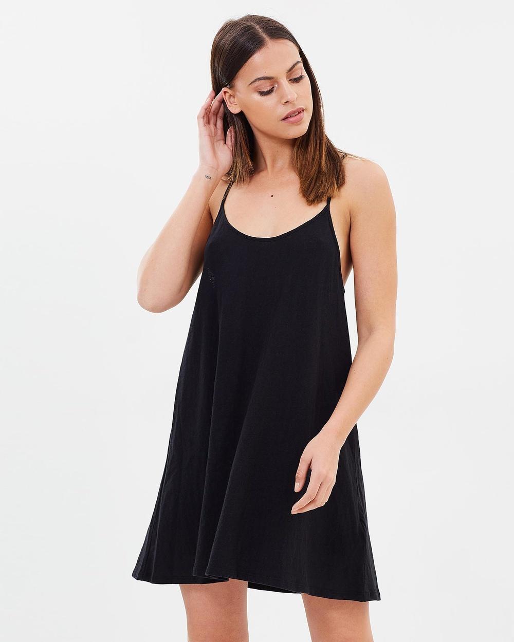 Rusty Bare Tank Dress Dresses Black Bare Tank Dress