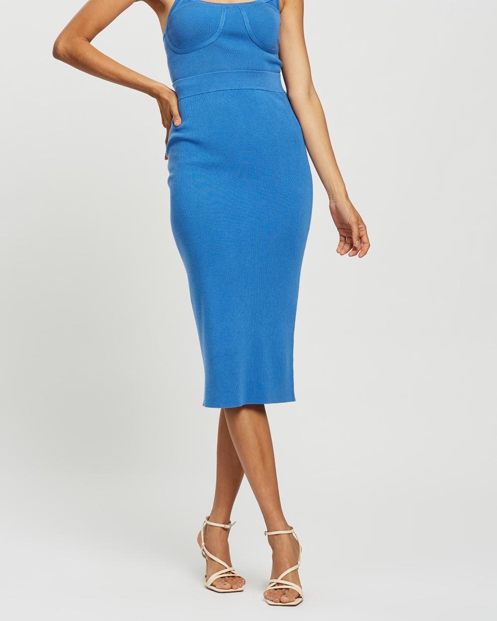 AERE Tubular Midi Skirt Skirts Azure