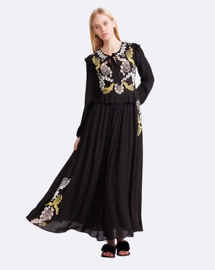 Cynthia Rowley – Embroidered Georgette Dress – Dresses (Black)