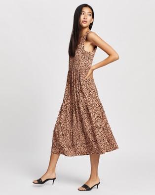 All About Eve Blushing Midi Dress - Printed Dresses (Print )