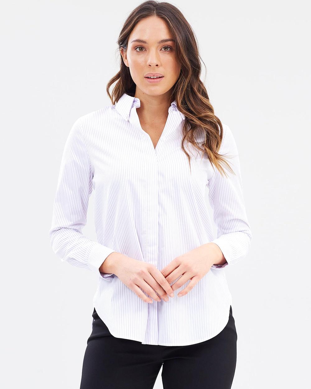 SABA Joy Oversized Shirt Tops Lilac & White Joy Oversized Shirt