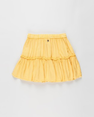 Eve Girl Supple Washed Skirt   Teens - Skirts (Honey Gold)