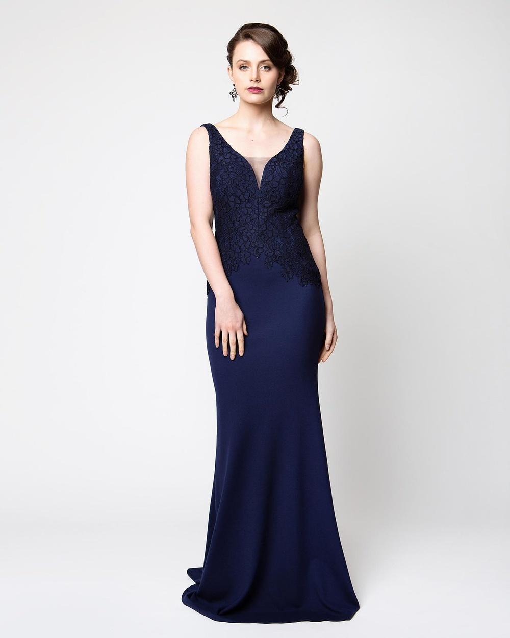 Tania Olsen Designs Bronte Dress Bodycon Dresses Navy Bronte Dress