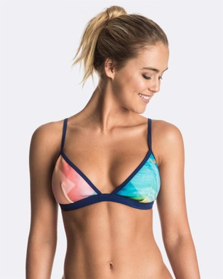 Roxy – Womens Pop Surf Light Neo Tri Separate Bikini Top MARSHMALLOW POP SURF