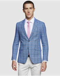 Oxford - Blake Linen Cotton Check Blazer