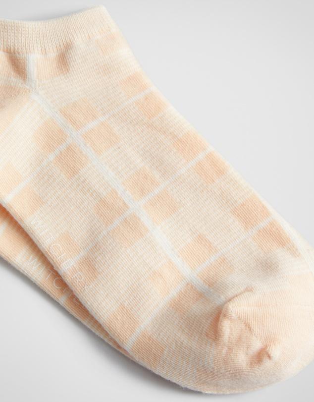 Women Check Sneaker Sock