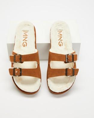 M.N.G Vacay - Slippers & Accessories (Medium Brown)