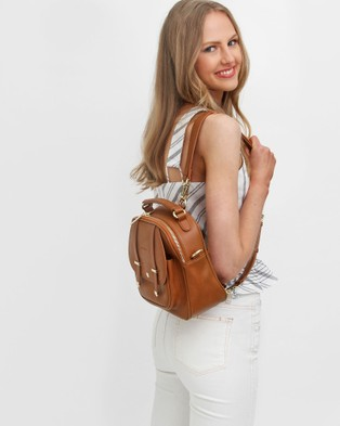 Belle & Bloom Camila Leather Backpack - Backpacks (Brown)