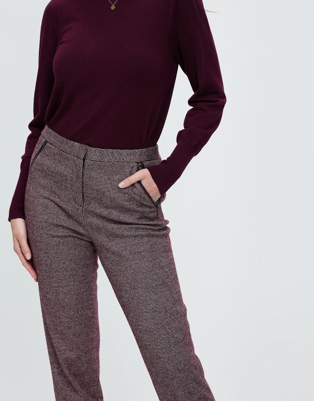 Women Dotty Dogtooth Pants