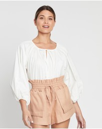 Shona Joy - Austin Oversized Drawstring Smock Top