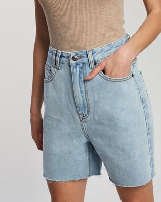 Atmos&Here Dana Recycled Cotton Blend Denim Shorts Light Blue