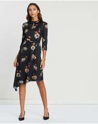 Oasis - Photographic Floral Midi Dress
