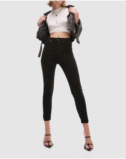 Topshop Petite Jamie Jeans Black