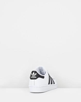 adidas Originals - Superstar Foundation Pre School Lifestyle Shoes (White/Black)