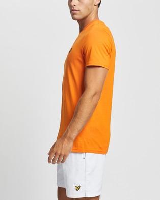 Lyle and Scott Plain T shirt - T-Shirts & Singlets (Risk Orange)