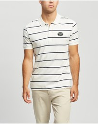 Lacoste - Stripe Interlock Polo with Badge