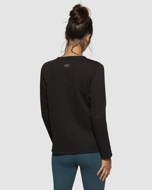 dk active Zeal Top - Long Sleeve T-Shirts (Black)