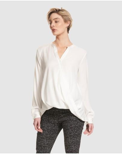 Soon Maternity Liv Long Sleeve Feeding Shirt White