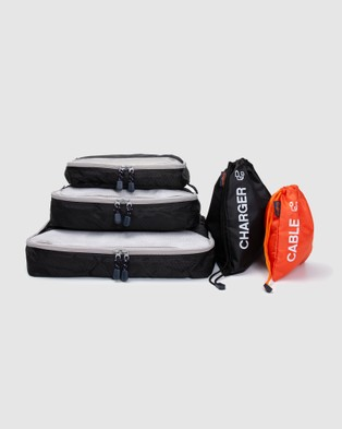 Globite - Cable & Charger Bag & Packing Cube Bundle - Travel and Luggage (Multi) Cable & Charger Bag & Packing Cube Bundle