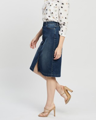 Marcs Auburn Denim Skirt skirts Denim