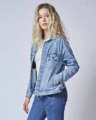 DRICOPER DENIM - Dazzler Denim Jacket - Denim jacket (Blur Blue) Dazzler Denim Jacket