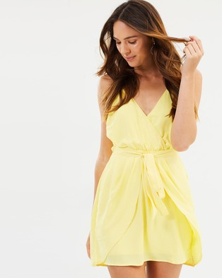 Fresh Soul – Estela Tie Dress Yellow