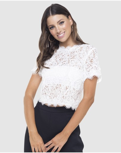 bd031096872f42 White Crop Top