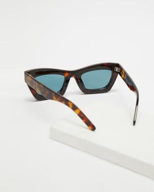 AKILA - Zombie Sunglasses (Tort, Teal & Silver)