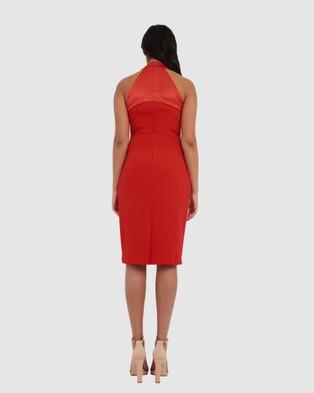 Forcast Greta Twist Halter Bodycon Dress - Dresses (Red)