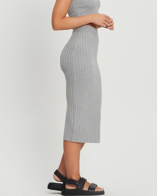 ST MRLO Laguna Knit Skirt - Skirts (Light Grey)