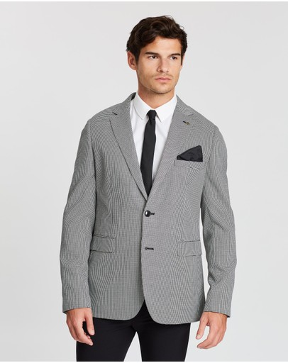 Burton Menswear - Puppytooth Skinny Fit Suit Jacket