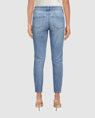 Forever New Isabel Mid Rise Straight Crop Jeans - Jeans (Sorrento Blue)