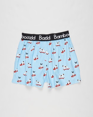 Bamboozld - Jack Russell Bamboo Boxer Shorts Boxers (Blue)
