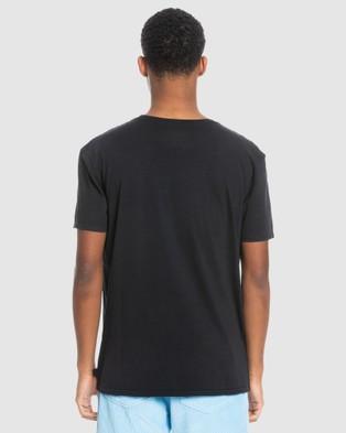 Quiksilver - Mens New Endings Organic T Shirt - T-Shirts & Singlets (Black) Mens New Endings Organic T-Shirt