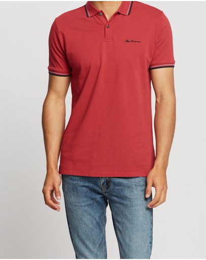 Ben Sherman Signature Romford Polo Ruby Red