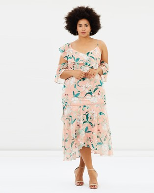 Cooper St – CS CURVY A Place In The Sun Flounce Dress – Printed Dresses Print