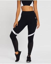 Running Bare - Ab Waisted Old Skool Full-Length Tights