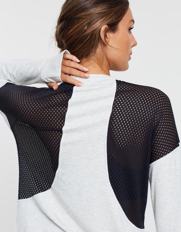 DKNY - Sweatshirt with Mesh Piecing